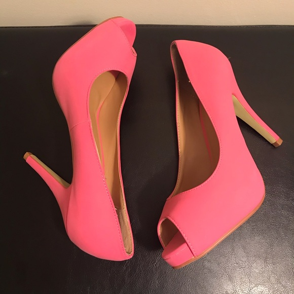 Journee Collection Shoes - Peep-Toe Platforms
